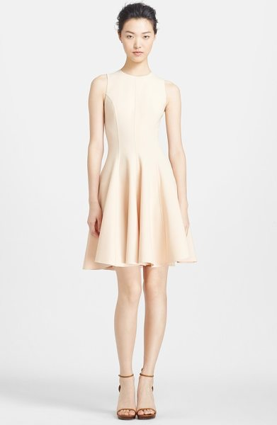 Michael Kors crepe fit & flare dress in nude - A delicate neutral hue furthers the versatility of this...