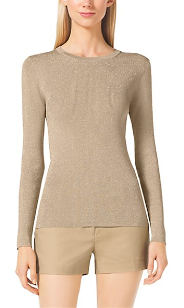 Michael Kors Crewneck Ribbed Sweater in natural - A Versatile Must-Have This Classic Crewneck Sweater...
