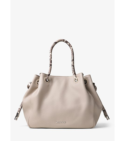 Michael Kors Dalia large leather tote - Designed with python-embossed trim our Dalia tote is an...