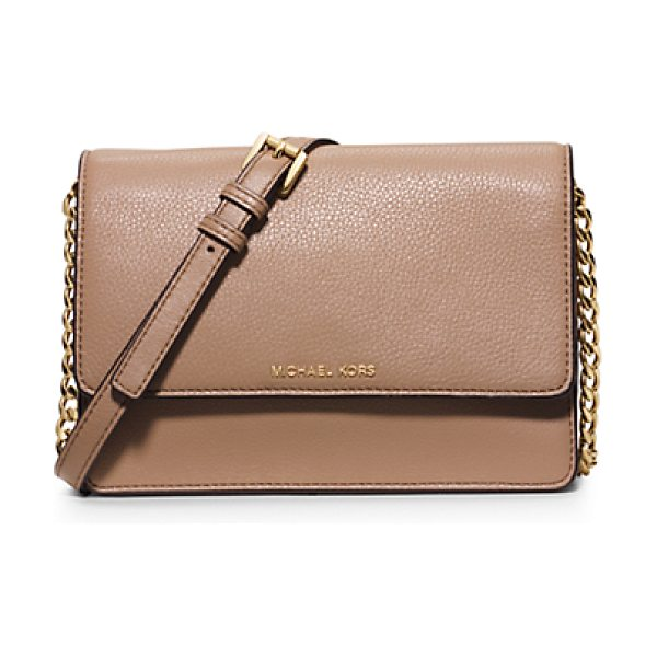 Michael Kors Daniela Small Leather Crossbody in natural - Sleek Sharp And Minimalist Theres No Ensemble This...