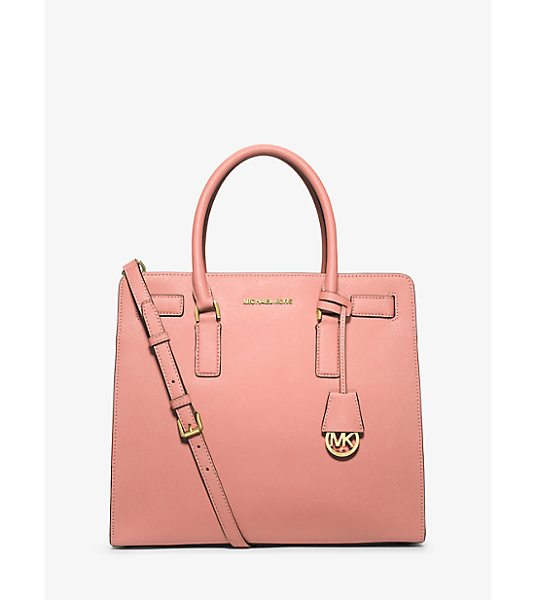 Michael Kors Dillon large saffiano leather satchel - A balance of ladylike and luxe our Dillon satchel...