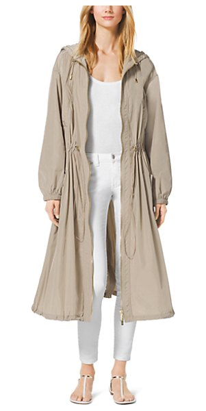 Michael Kors Drawstring Anorak in natural