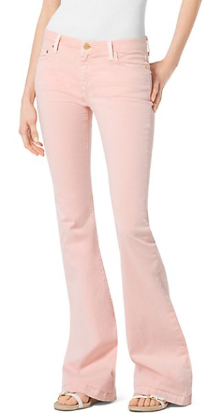 Michael Kors Five-Pocket Flared Jeans in pink - Designed For A Perfect Fit From Premium Stretch-Denim...