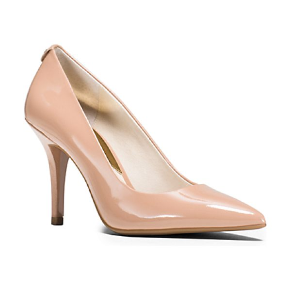 MICHAEL KORS Flex Leather High-Heel Pump in natural - Crafted From Glossy Patent-Leather Our Classic Flex...