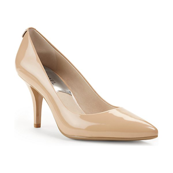 MICHAEL KORS Flex Patent Leather Mid-Heel Pump - A Wardrobe Must-Have That Will Work Overtime This...