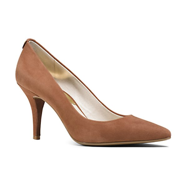 MICHAEL KORS Flex Suede Mid-Heel Pump - Sumptuous Suede And A Ladylike Mid-Heel Render Our...