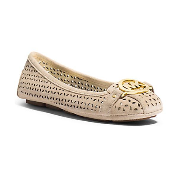 Michael Kors Fulton Perforated Suede Moccasin in natural - Meet The New Go-To In Your Shoe Repertoire: Our Fulton...