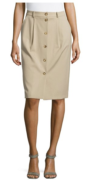 Michael Kors Gabardine button trouser skirt in sand - Michael Kors skirt in gabardine. Approx. measurements:...