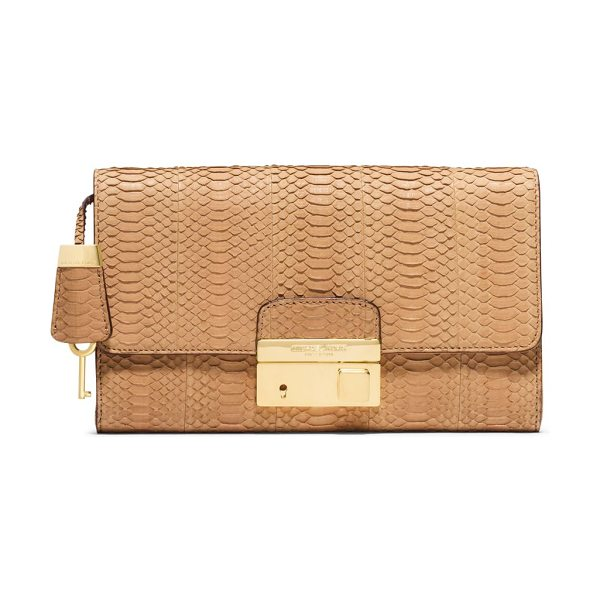 MICHAEL KORS Gia snakeskin clutch - Beautifully crafted from exotic snakeskin, this sleek...