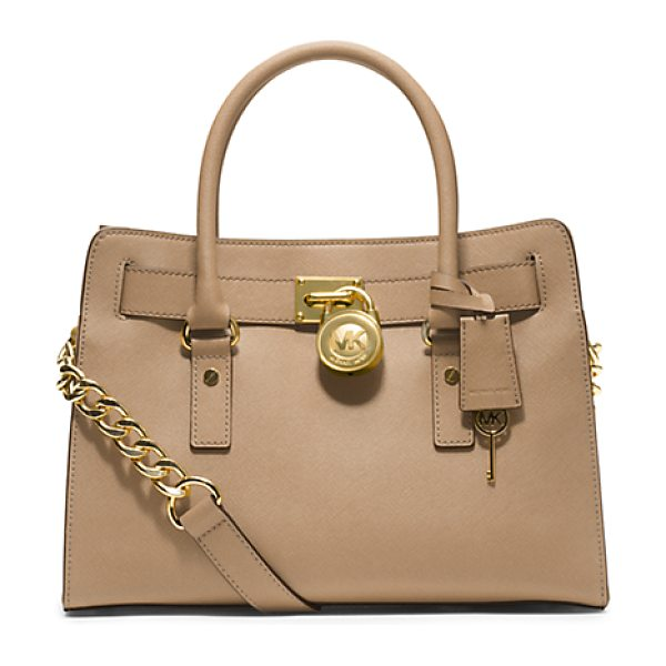 MICHAEL KORS Hamilton Saffiano Leather Medium Satchel - Once An Icon Always An Icon. Our Hamilton Satchel Is...