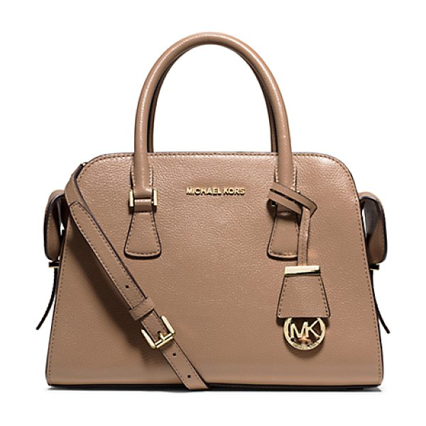 Michael Kors Harper Medium Leather Satchel in natural - Say Hello To Harper A New Design Inspired By A Vintage...