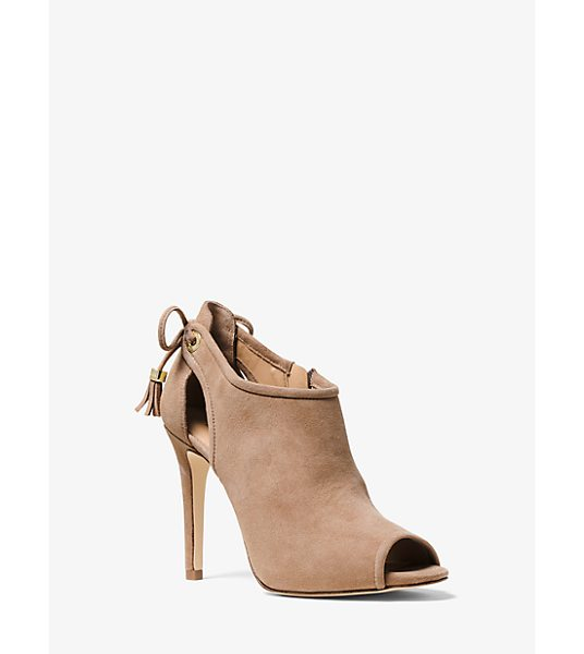 Michael Kors Jennings Suede Ankle Boot in natural - As Sleek As They Are Sumptuous Our Jennings Ankle Boots...