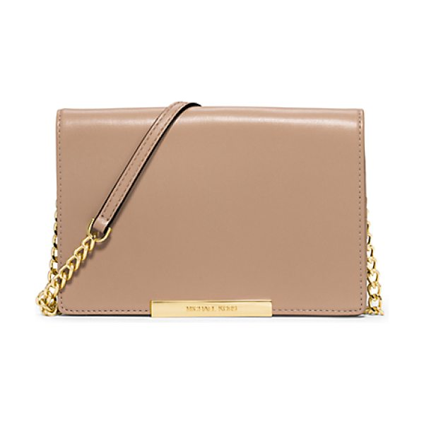 MICHAEL KORS Lana leather clutch handbag - The ultimate in minimalist style: our Lana clutch. The...