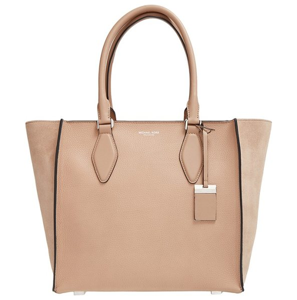 Michael Kors Large gracie leather tote in dune - Richly textured calfskin leather defines a versatile...