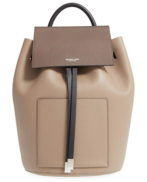 MICHAEL KORS Large miranda leather backpack in dune - A bucket-silhouette backpack cut from buttery-soft,...