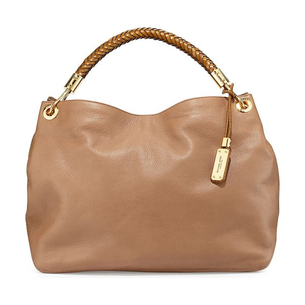 Michael Kors Large skorpios grained shoulder bag in desert - Michael Kors grained leather shoulder bag. Golden...