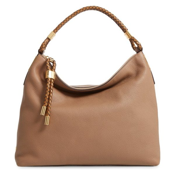 MICHAEL KORS 'large skorpios' leather hobo - A slouchy shoulder bag cut from richly pebbled leather...