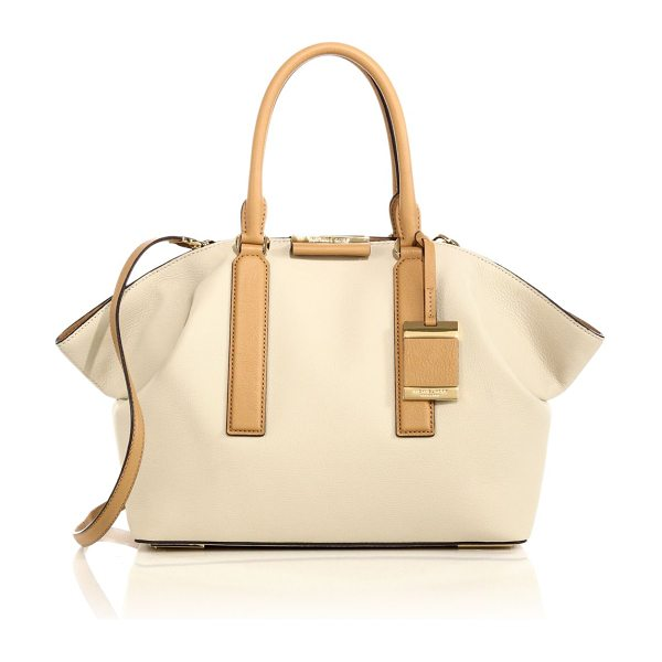 "Michael Kors Lexi large two-tone leather satchel in vanilla - ketsFully lined12.5""W X 11""H X 5.5""DLeatherImported"