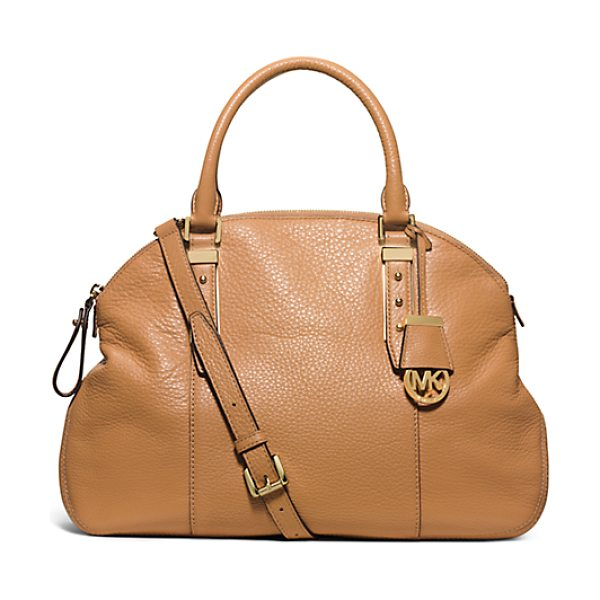 Michael Kors Bowery Large Leather Shoulder Bag in brown - Relaxed Meets Refined With Our Bowery Shoulder Bag. Its...