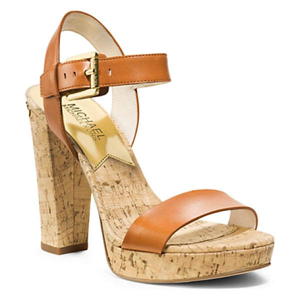 Michael Kors London Cork Platform Sandal in brown - Natural Cork Sumptuous Leather Minimal...