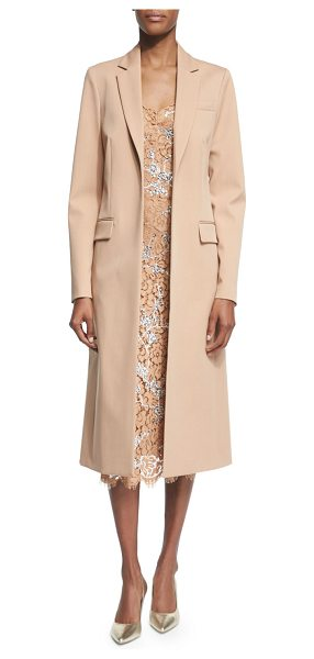 "MICHAEL KORS Long Open-Front Wool Coat - Michael Kors long coat. Approx. 45""L down center back...."