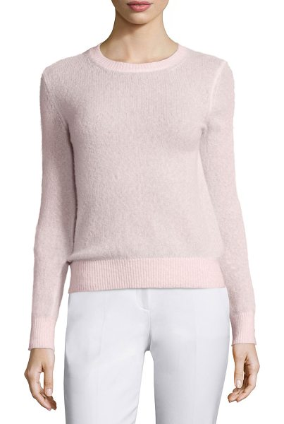 Michael Kors Long-Sleeve Cashmere-Blend Sweater in blush - Michael Kors cashmere-blend sweater. Jewel neckline....