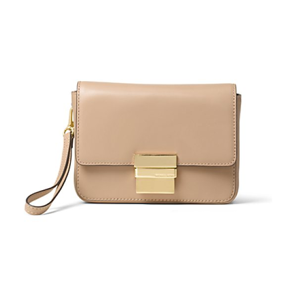 Michael Kors Madelyn Small Leather Clutch in natural - A Compact Approach To Chic Our Madelyn Clutch Is Crafted...