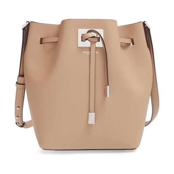 Michael Kors Medium miranda bucket bag in dune - Buttery-soft leather in a standout hue intensifies the...