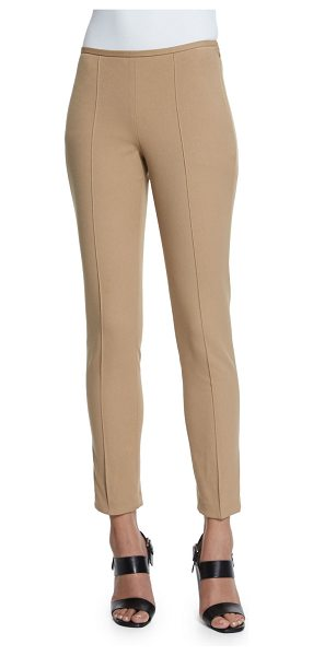 Michael Kors Mid-Rise Skinny Pants in dune - Michael Kors soft stretch-knit pants. Rise sits below...