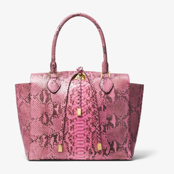 Michael Kors Collection Miranda Python Large Tote in pink - Exotic. Elegant. Efficient. Meet The New...
