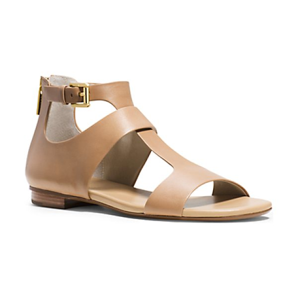 Michael Kors Pamela Leather Sandal in brown - Meet Pamela A Refined Take On The Gladiator Showcasing...