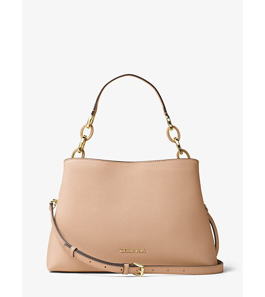 Michael Kors Portia Large Saffiano Leather Shoulder Bag -