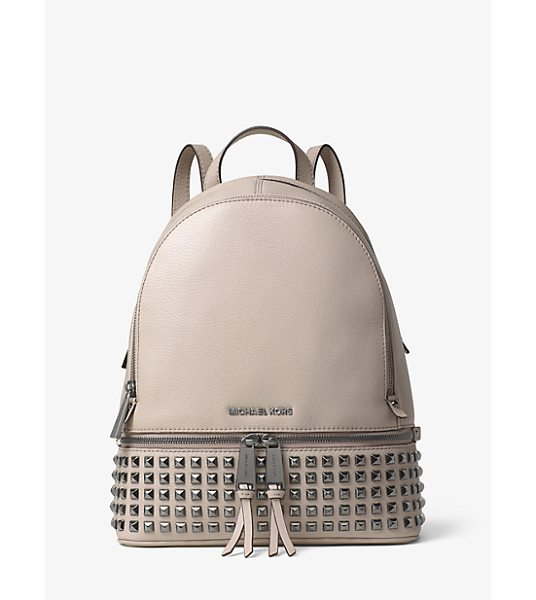 Michael Kors Rhea medium leather studded backpack - Laid-back yet luxe our Rhea backpack redefines big-city...