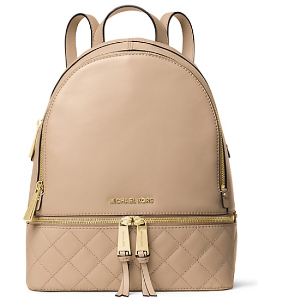 Michael Kors Rhea medium quilted-leather backpack