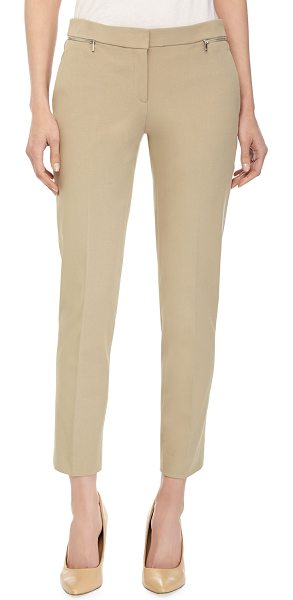 Michael Kors Samantha ankle pants in sand - Michael Kors knit ankle pants. Banded waist. Front zip...