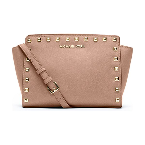 Michael Kors Selma medium studded leather messenger