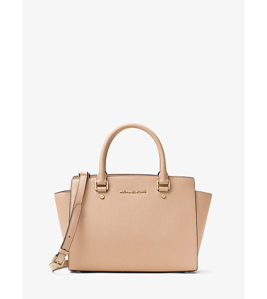 MICHAEL KORS Selma Saffiano Leather Medium Satchel -
