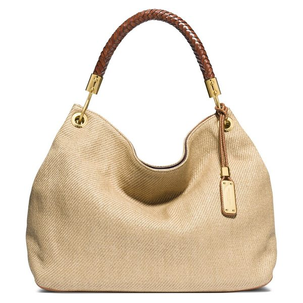 MICHAEL KORS Skorpios large braided-handle woven hobo bag - Crafted from a woven blend with just a bit of slouch,...