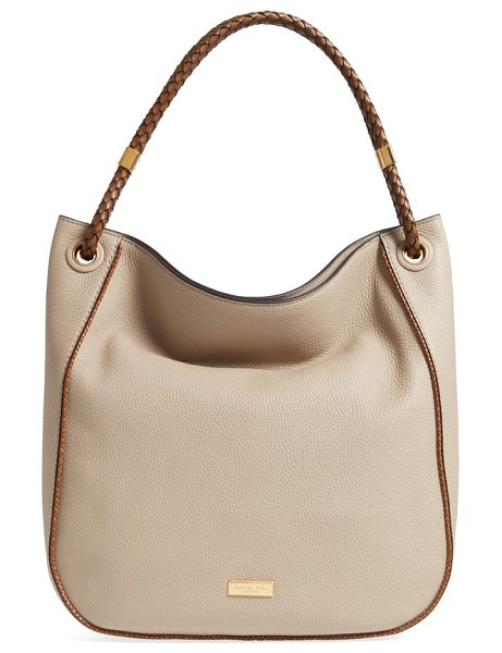 Michael Kors skorpios leather hobo in sand - A spacious hobo with a slightly slouchy silhouette is...