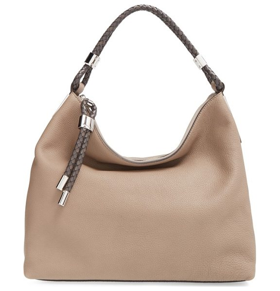 Michael Kors 'skorpios' slouchy shoulder bag in dark taupe