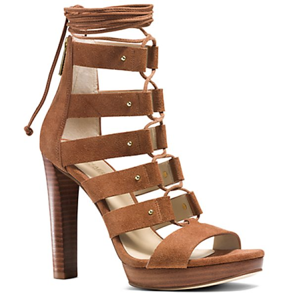 Michael Kors Sofia Suede Platform Sandal in brown - With Their Velvety Suede Workmanship And Stacked...