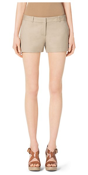 Michael Kors Stretch-Cotton Shorts in natural - Cut For A Short Flirty Fit Our Cotton Shorts Feature A...