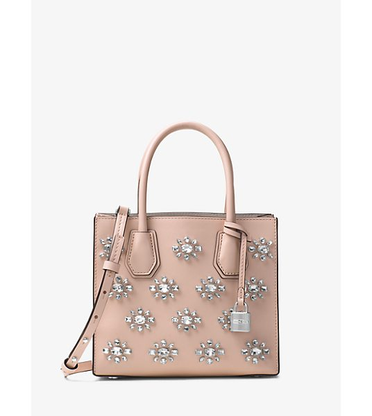 Michael Kors Studio Mercer Crystal-Embellished Leather Crossbody in pink - Crafted From Luxe Leather And Embellished With Sparkling...