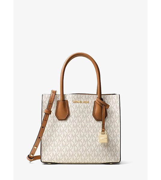 Michael Kors Studio Mercer Logo Crossbody in natural