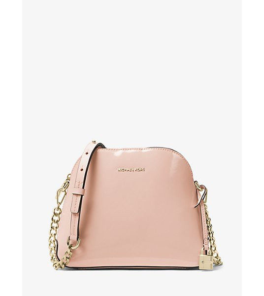 Michael Kors Studio Mercer Patent Leather Dome Crossbody in pink - Reimagined In A Dome-Structured Crossbody The Mercer Is...