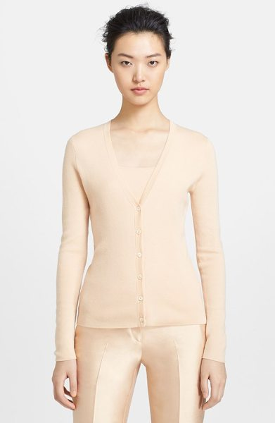 MICHAEL KORS v-neck cashmere cardigan - A comely V-neckline styles this essential form-fitting...