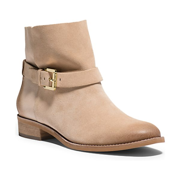 Michael Kors Walton Suede Ankle Boot in natural - Our Walton Ankle Boots Set The Standard For Contemporary...