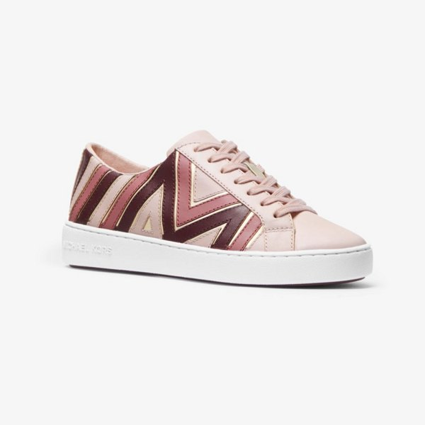 Michael Kors Whitney Tri-Color Leather Sneaker in pink - Our Whitney Sneakers Are An Elevated Take On A Casual...