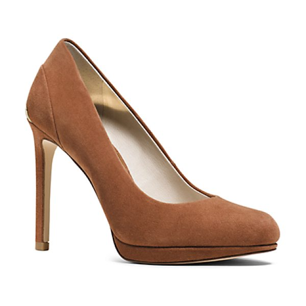 Michael Kors Yasmin Suede Pump in brown - Our Yasmin Pump Is Crafted From Supple Suede With A...