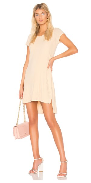 Michael Lauren Blade T Shirt Dress in cream - 94% rayon 6% spandex. Dry clean recommended. Fully...